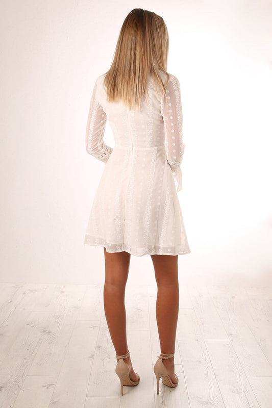 Dakota Dress White
