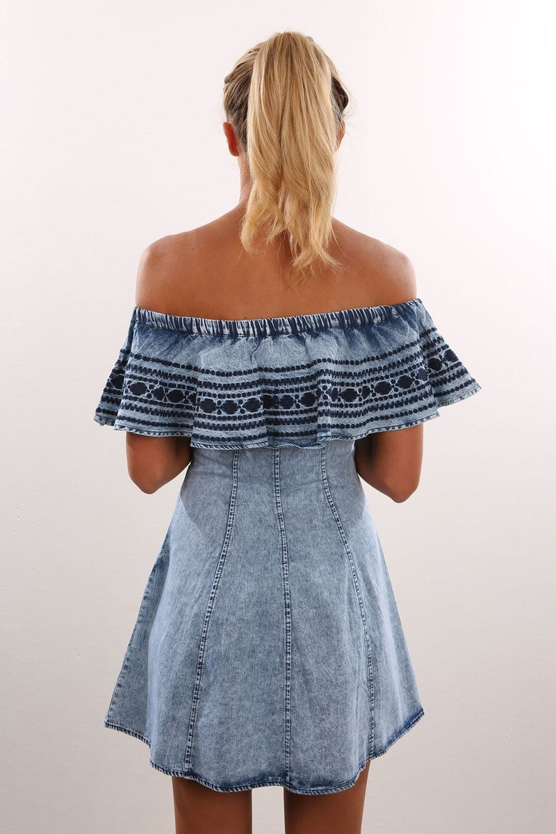Chasing The Sun Denim Dress Jean Jail - Jean Jail