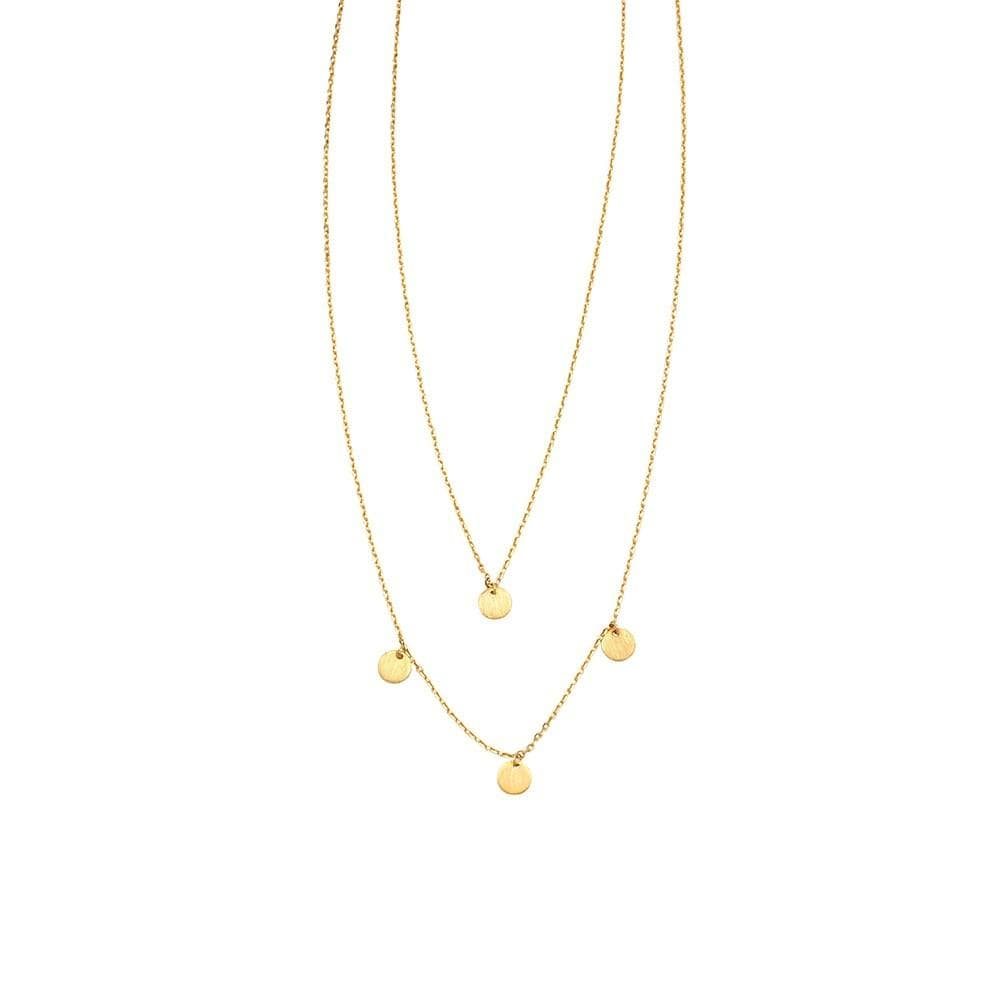 2 Layer Maya Necklace Gold