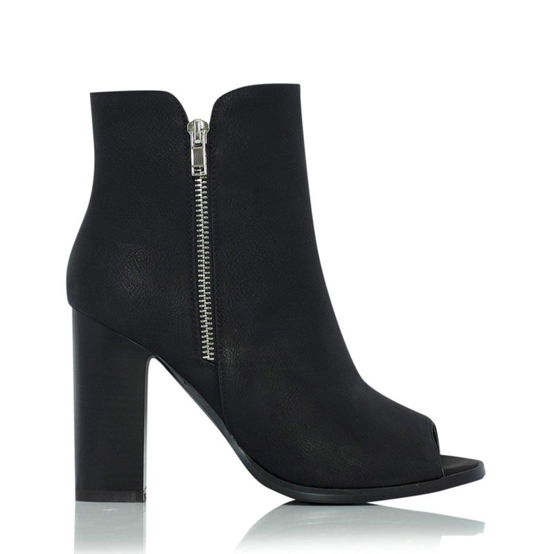 Mora Heel Black Pebble Billini - Jean Jail