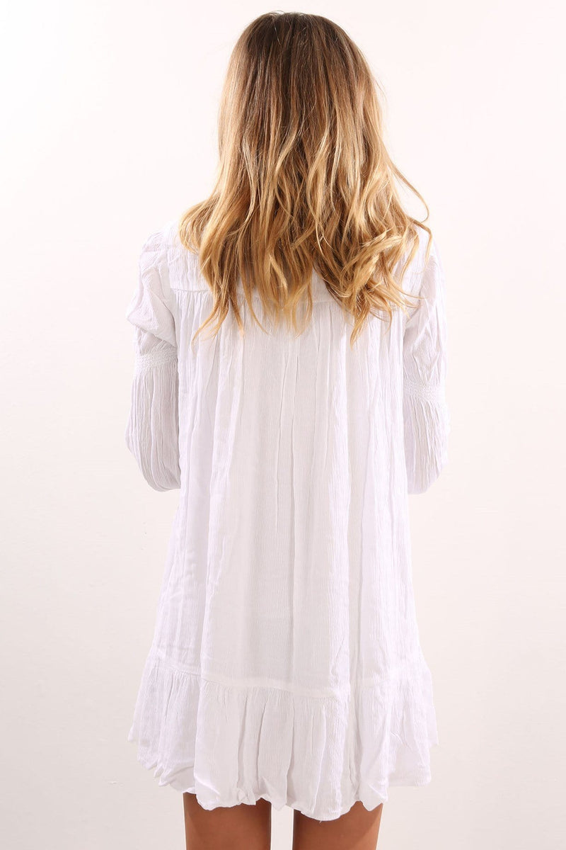 Ethos Long Sleeve Dress White Volcom - Jean Jail