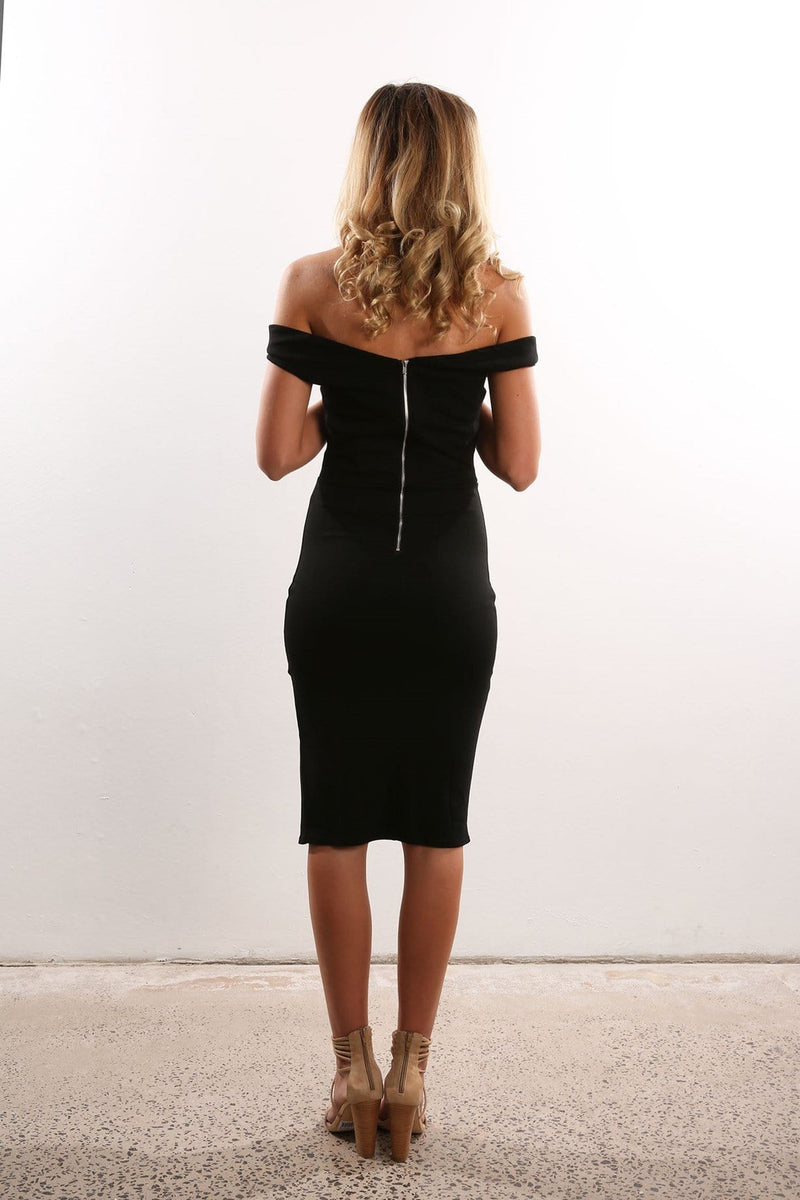 Counting Time Dress Black Jean Jail - Jean Jail