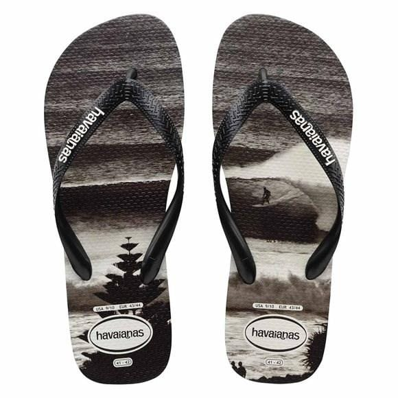 Photoprint Thongs Lennox Heads Black Black Havaianas - Jean Jail