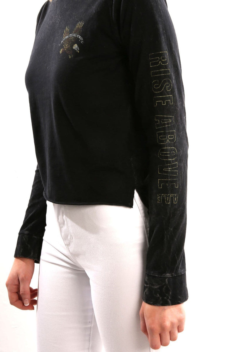 Rise Above Long Sleeve Hoody Black All About Eve - Jean Jail