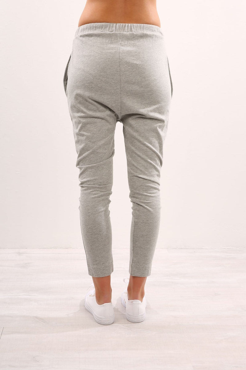 Finn Jersey Pant Grey Marle Nude Lucy - Jean Jail