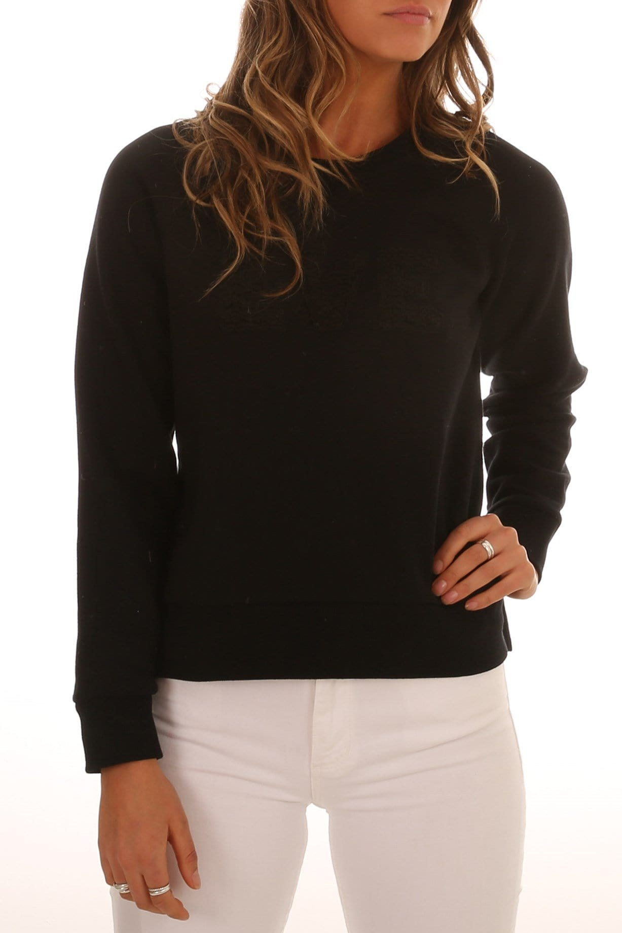 Alannah Fleece Crew Neck Black