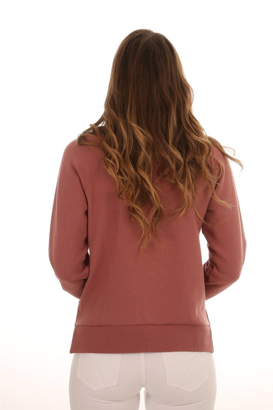 Alannah Fleece Crew Neck Dusty Rose