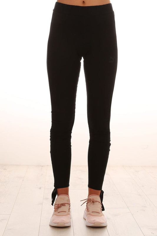 Bow Leggings Cotton Black