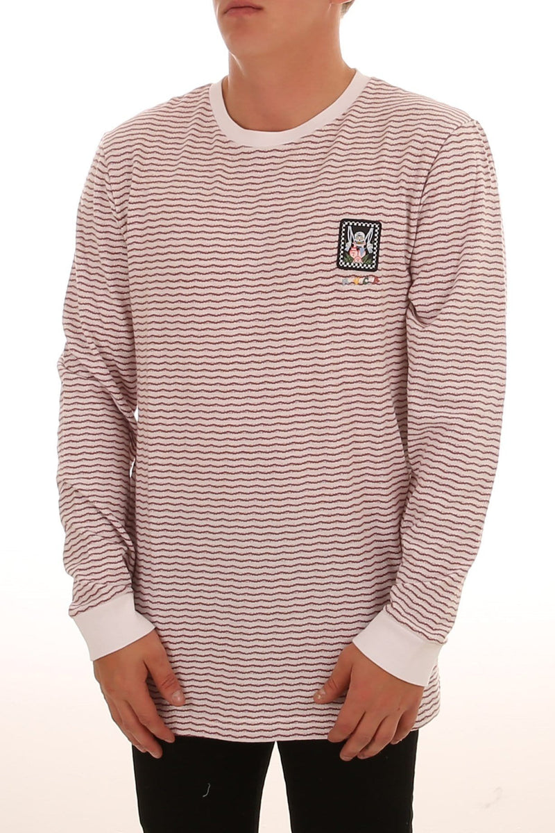 Crypt Party Long Sleeve Vintage White RVCA - Jean Jail