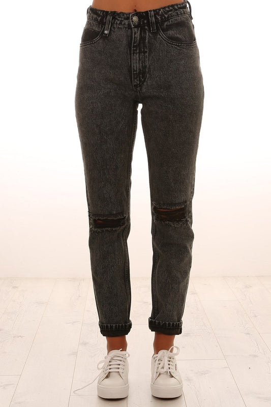 Destroy Thelma Jeans Stoned Black