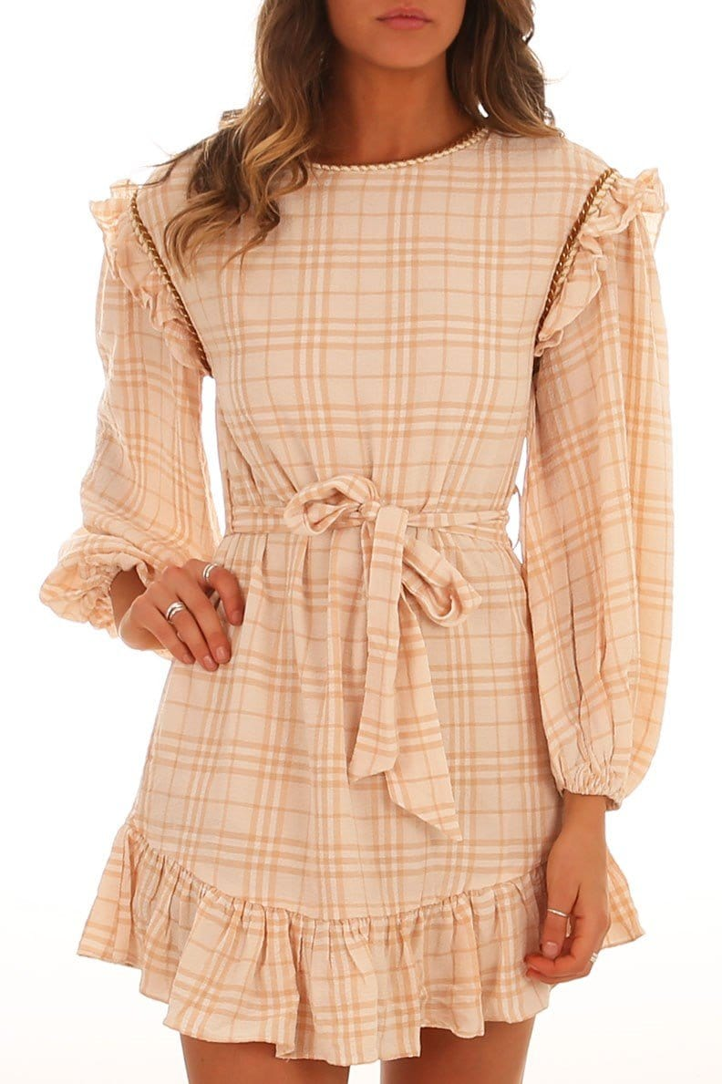 Lulie Dress Peach Jean Jail - Jean Jail