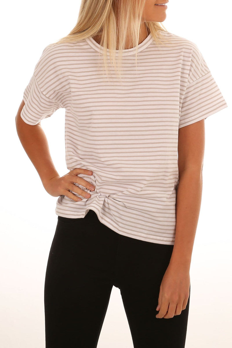 Lyle Tee Grey Stripe Nude Lucy - Jean Jail