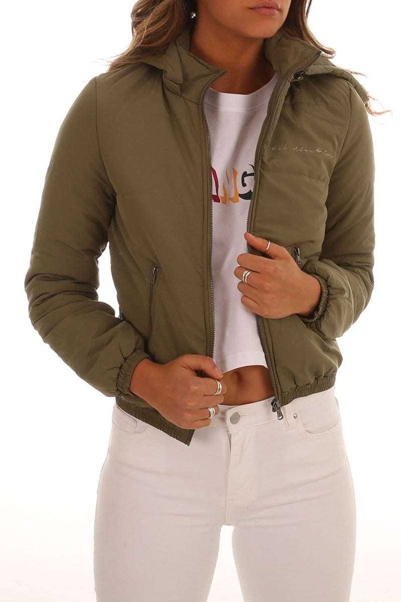 Rosa Puffa Jacket Khaki All About Eve - Jean Jail