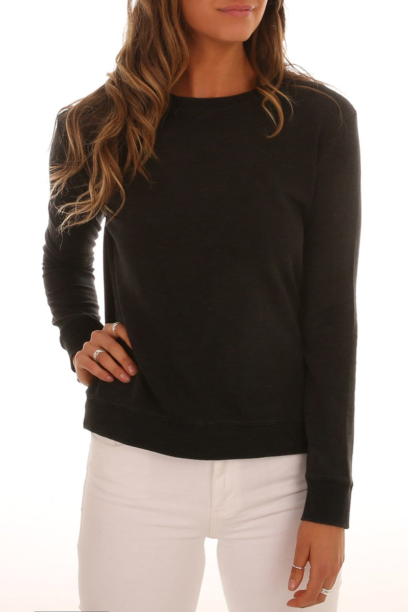 Ryder Cross Back Sweater Washed Black Betty Basics - Jean Jail