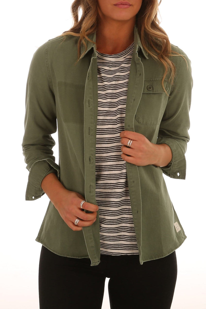 Surplus Shirt Army Green Thrills - Jean Jail
