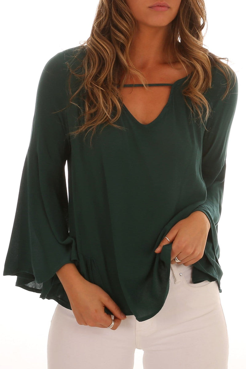True Love Bell Blouse Jade Sass - Jean Jail
