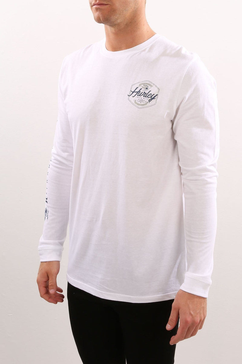 Time & Time Again Long Sleeve T-Shirt White Hurley - Jean Jail