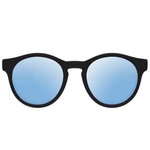 Hey Macarena Black Rubber // Ice Blue Revo Mirror Polarised Lenses Le Specs - Jean Jail