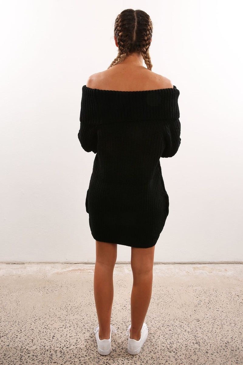 I Look To You Knit Dress Black Imonni - Jean Jail
