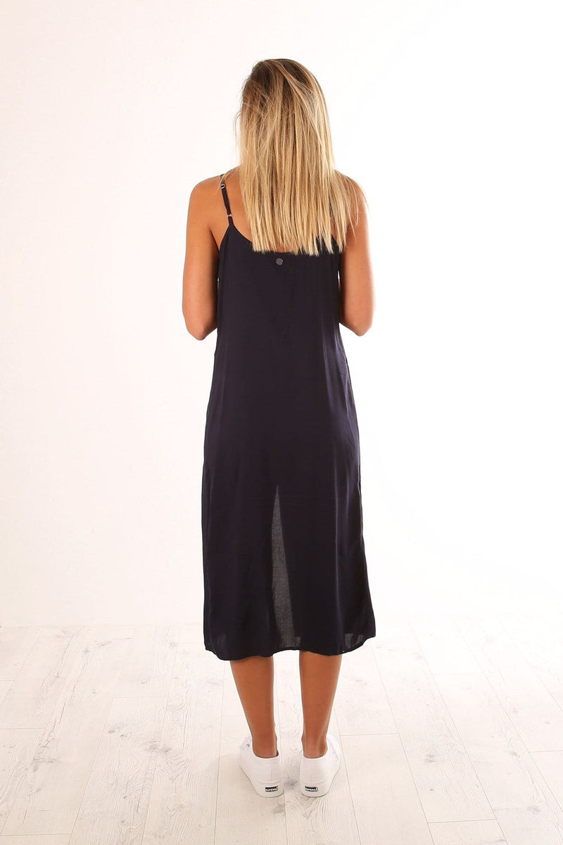 Iris Midi Dress Navy All About Eve - Jean Jail