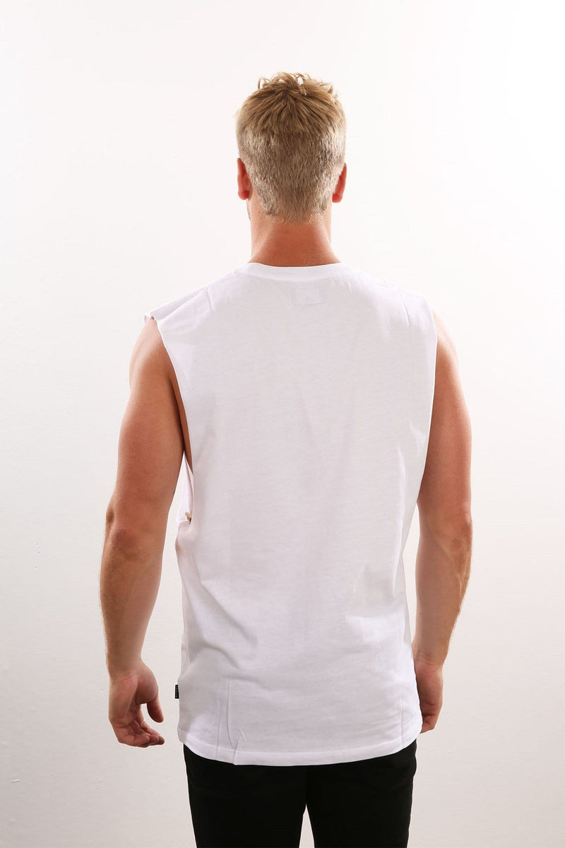 Nylon Band Cut Tee White Afends - Jean Jail