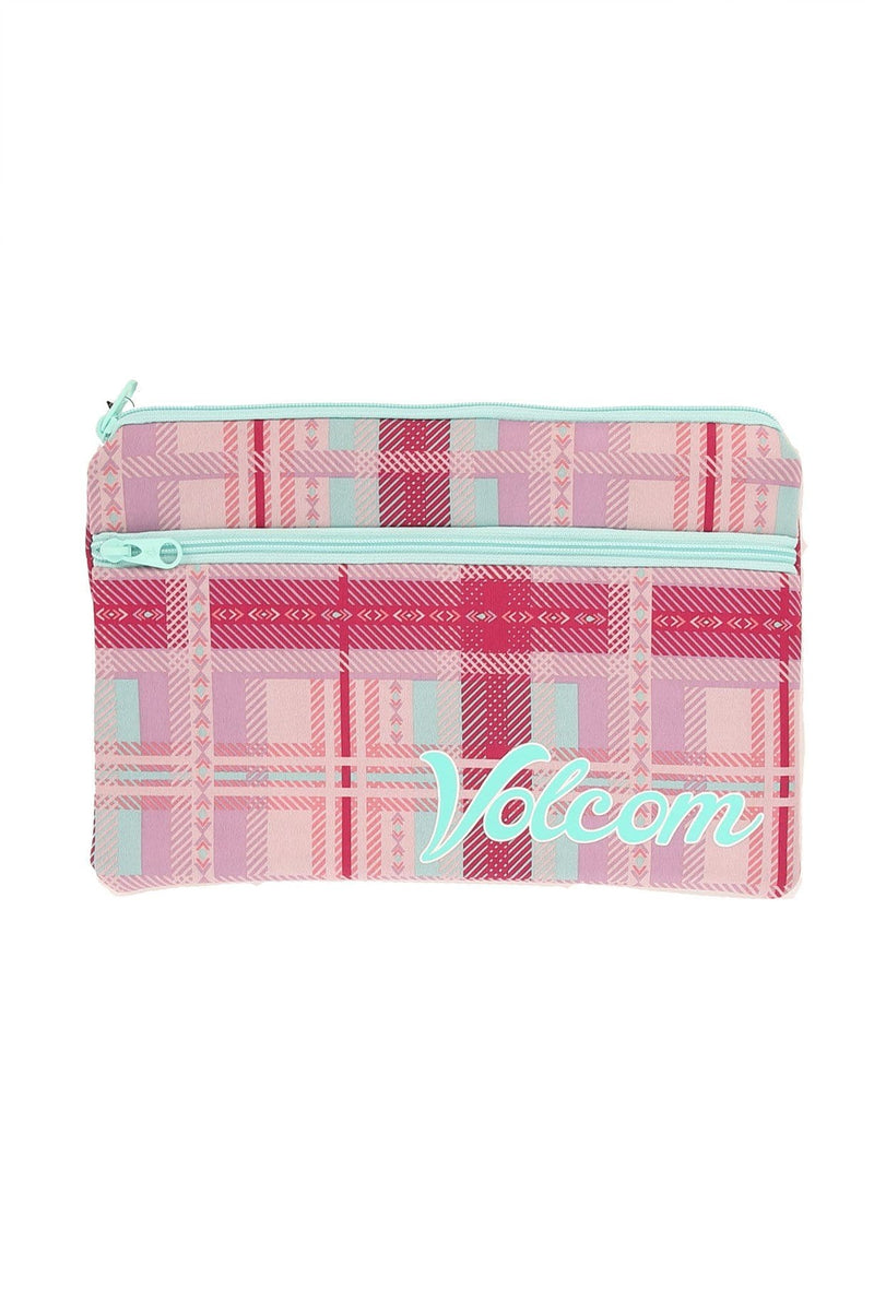 PA Double Pencil Case Petal Pink Volcom - Jean Jail