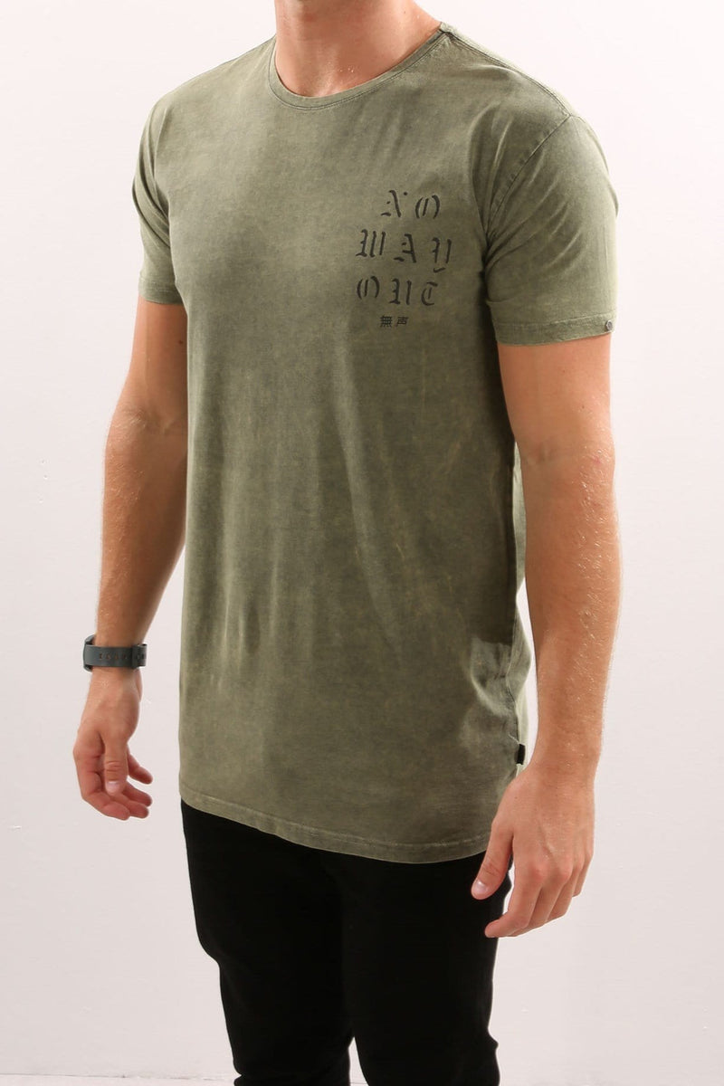 Escape Tee Khaki Silent Theory - Jean Jail