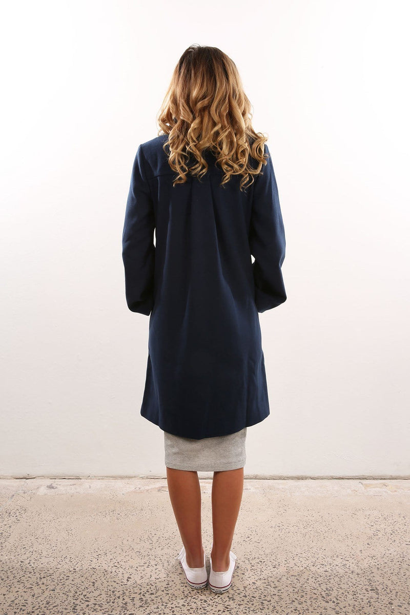 The Elixir Coat Petrol Blue The Fifth Label - Jean Jail