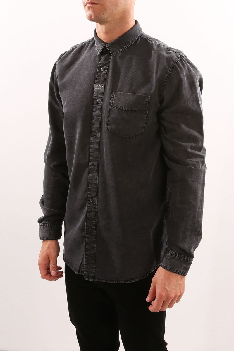 Goodstock Vintage Long Sleeve Shirt Black Globe - Jean Jail