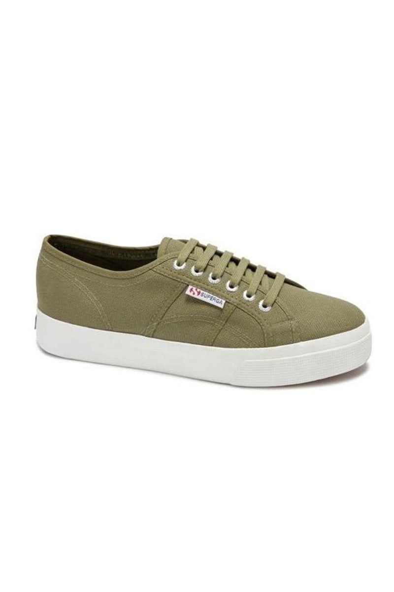 2730 Cotu Green Cap Olive White Superga - Jean Jail