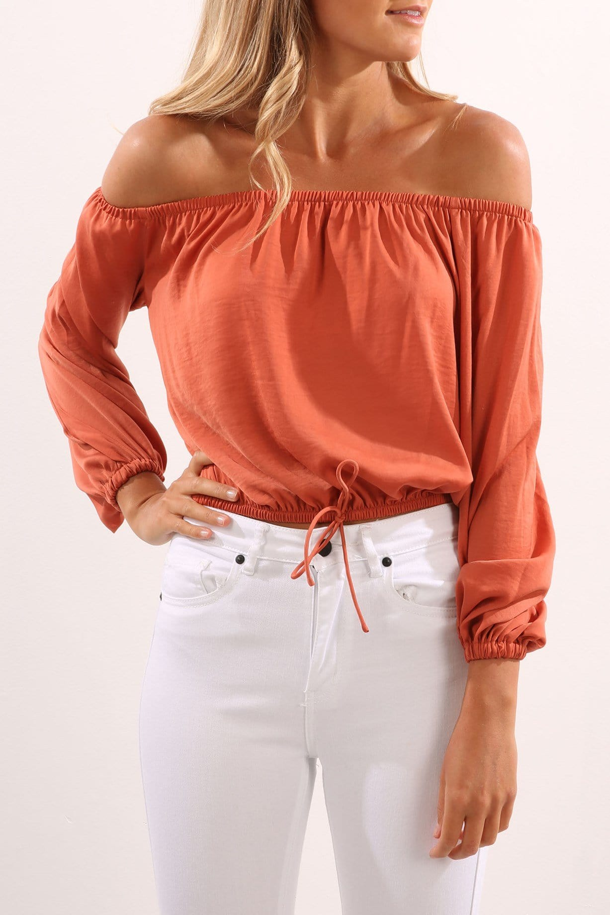 The Nightingale Long Sleeve Top Copper