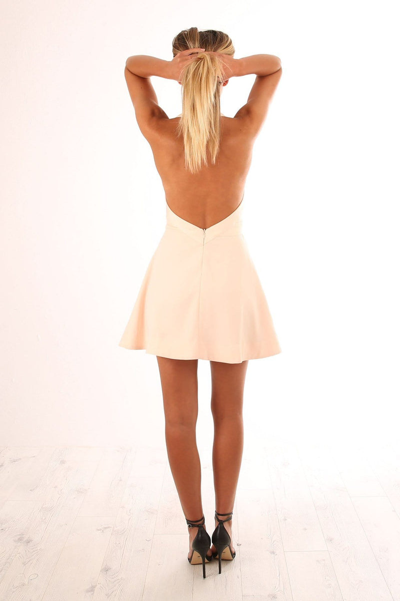 Modern Things Mini Dress Soft Peach Keepsake - Jean Jail