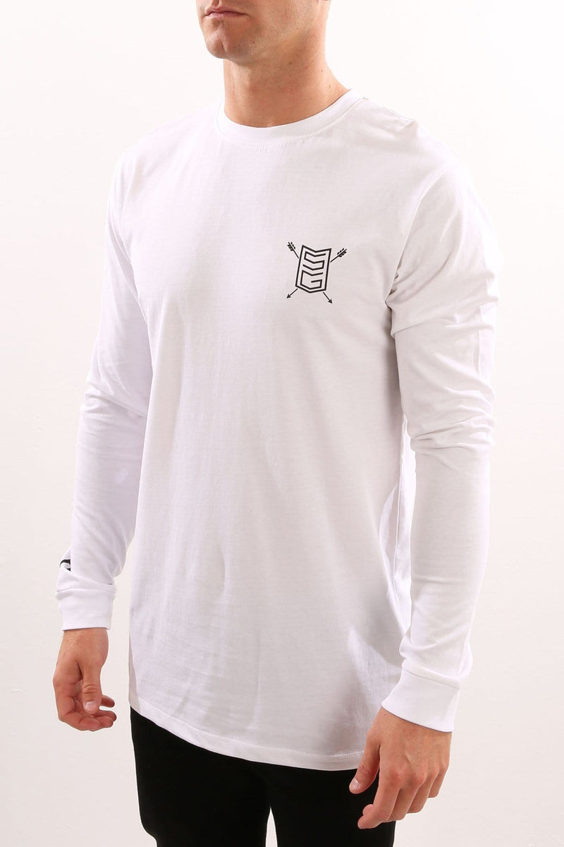 The Slab Long Sleeve Tee White St Goliath - Jean Jail