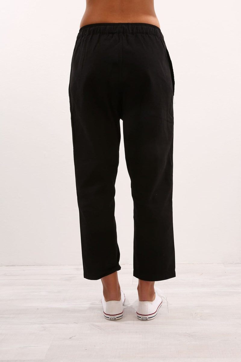Anya Cotton Pant Black Assembly Label - Jean Jail