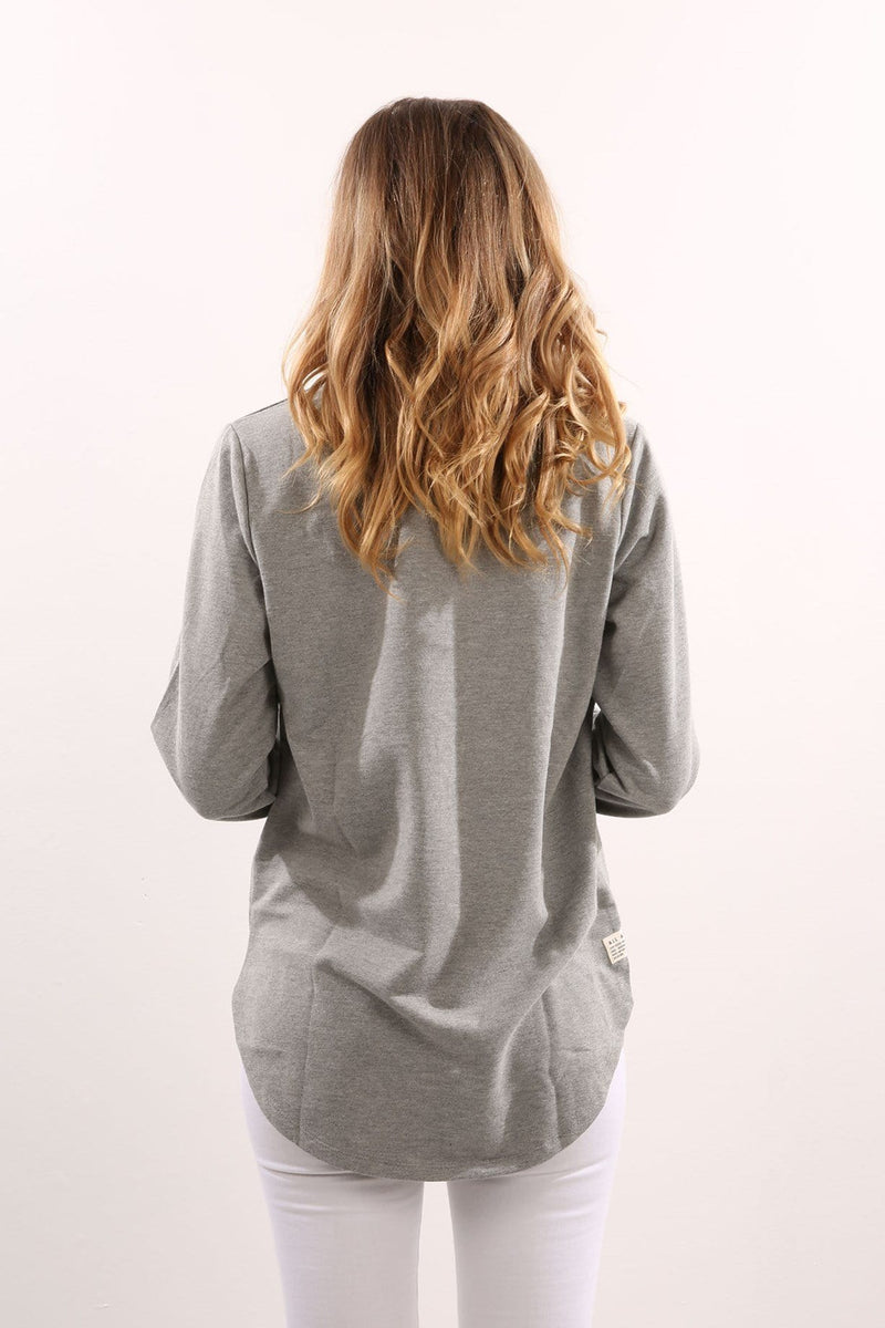 Longline Jumper Grey Marle All About Eve - Jean Jail