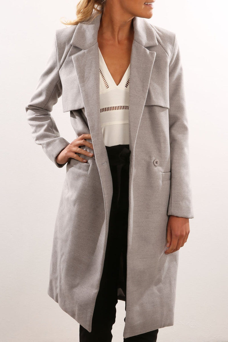 Mercury Coat Grey Marle The Fifth Label - Jean Jail