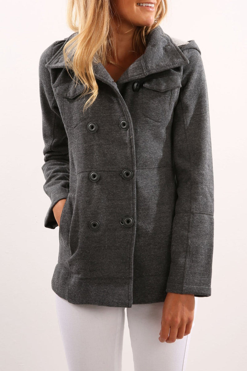 Classic Winchester Jacket Dark Heather Grey Hurley - Jean Jail