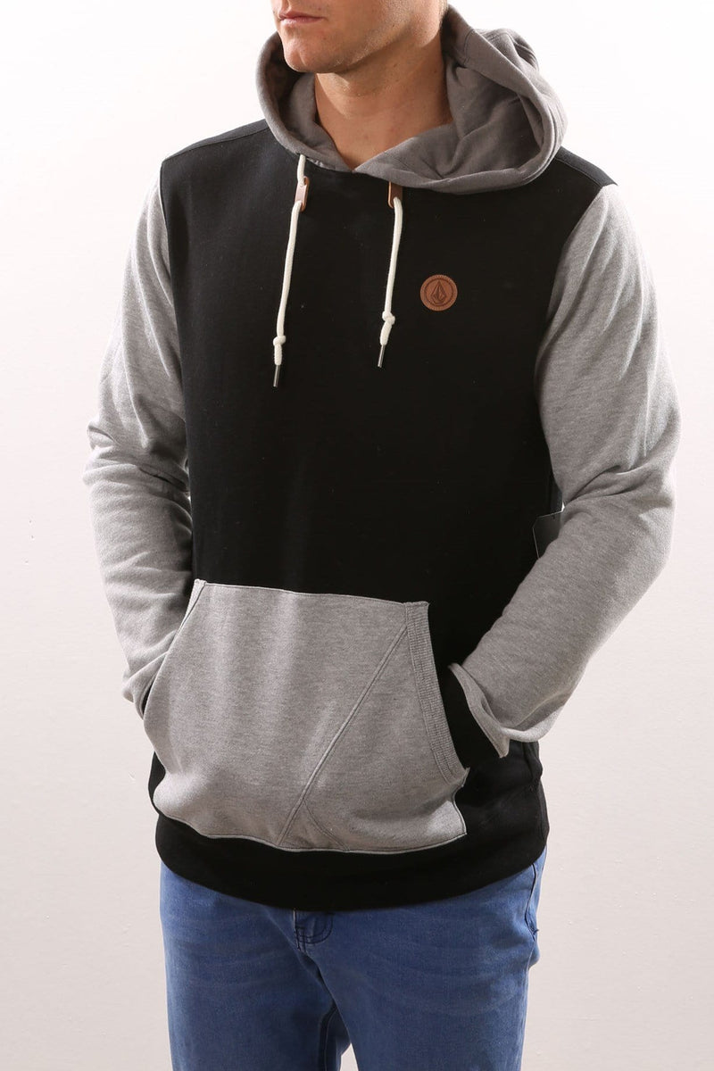 Single Stone Colour Block Hoody Black Volcom - Jean Jail