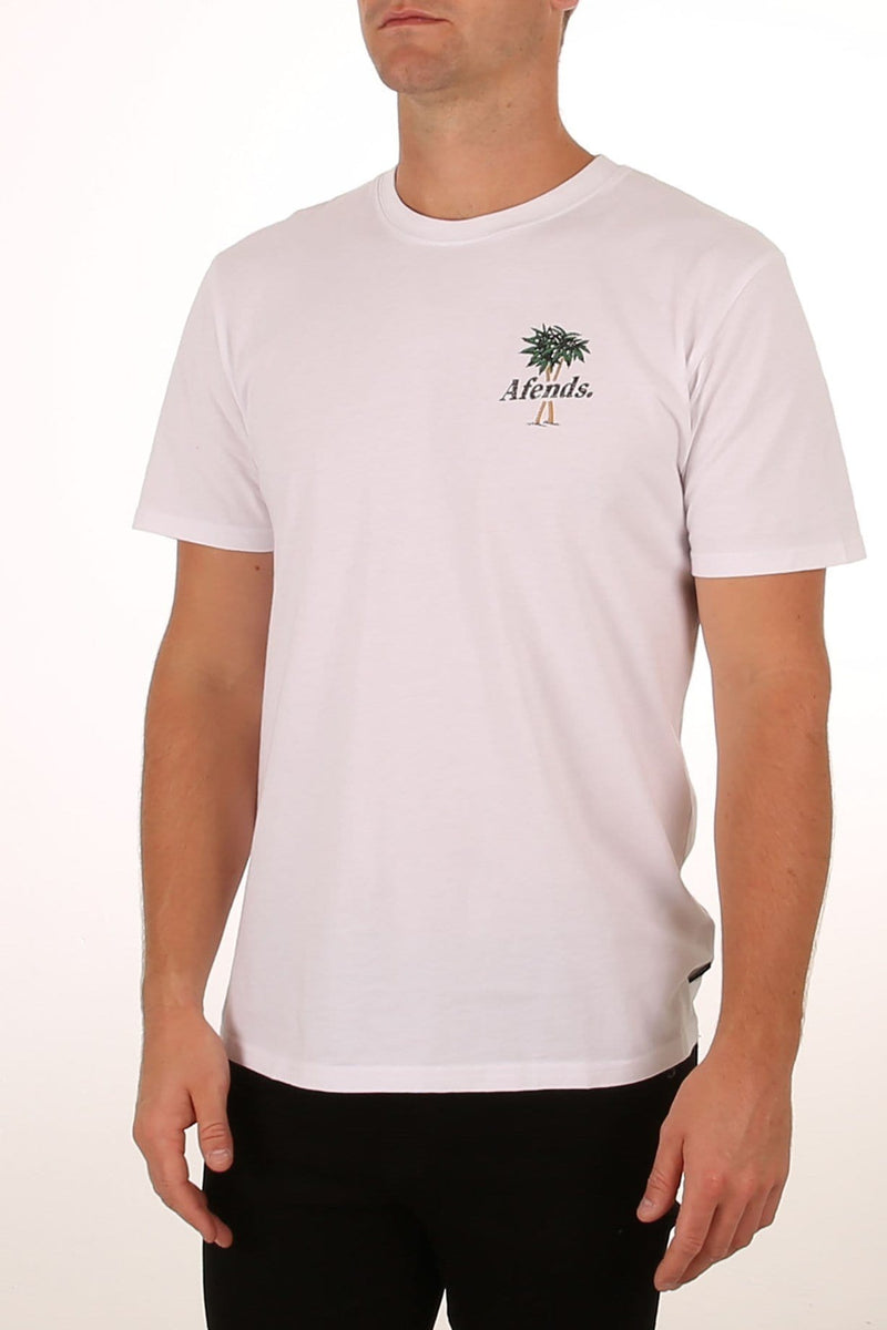 Tropical Tokers Standard Fit Tee White Afends - Jean Jail
