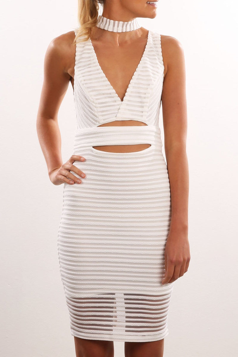 Body Electric Dress White Jean Jail - Jean Jail
