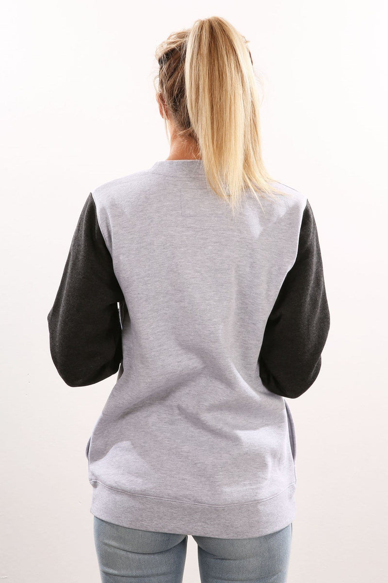 99 Block Crew Fleece Heather Grey Hurley - Jean Jail
