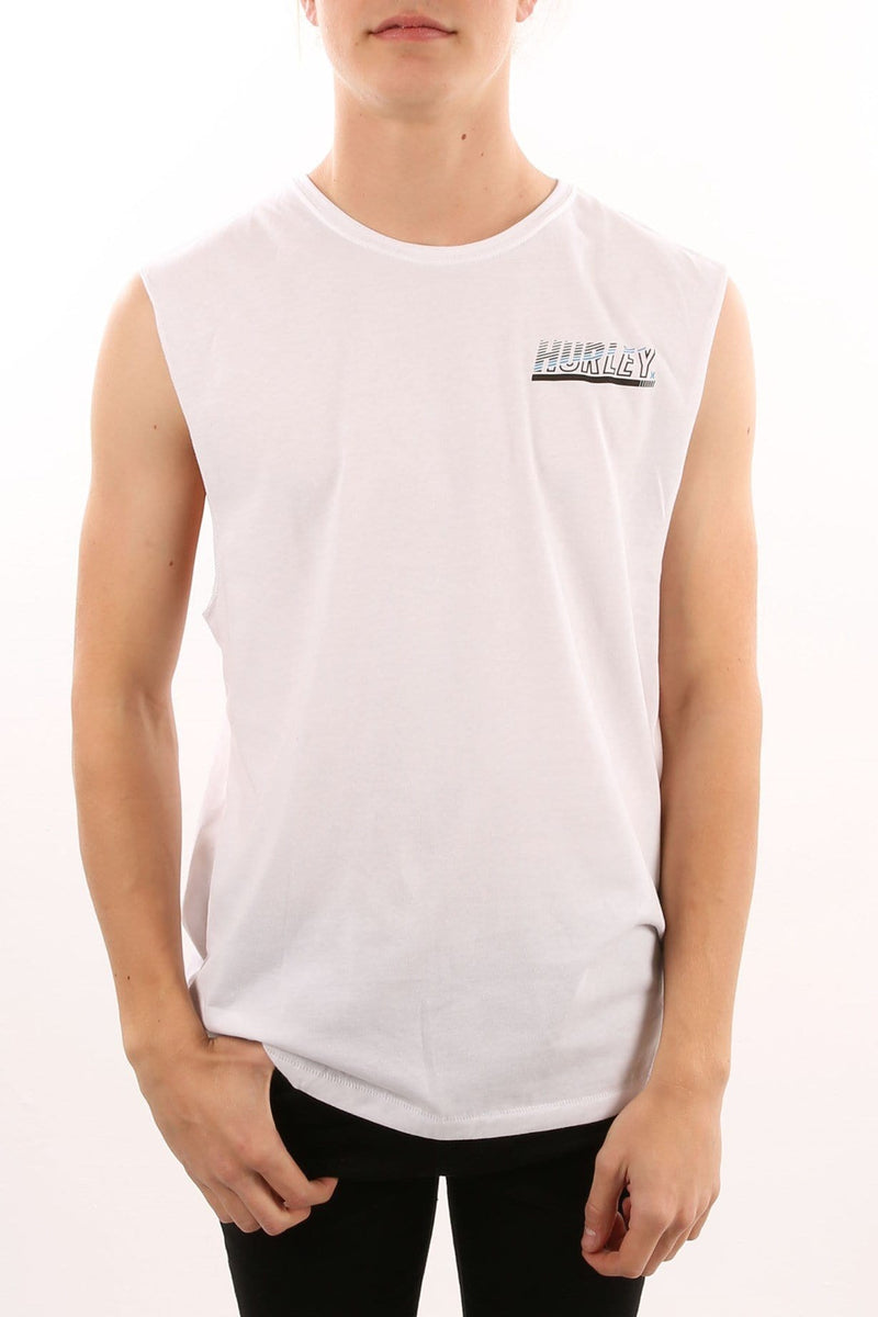 Dri-Fit Launch Muscle Singlet White Hurley - Jean Jail