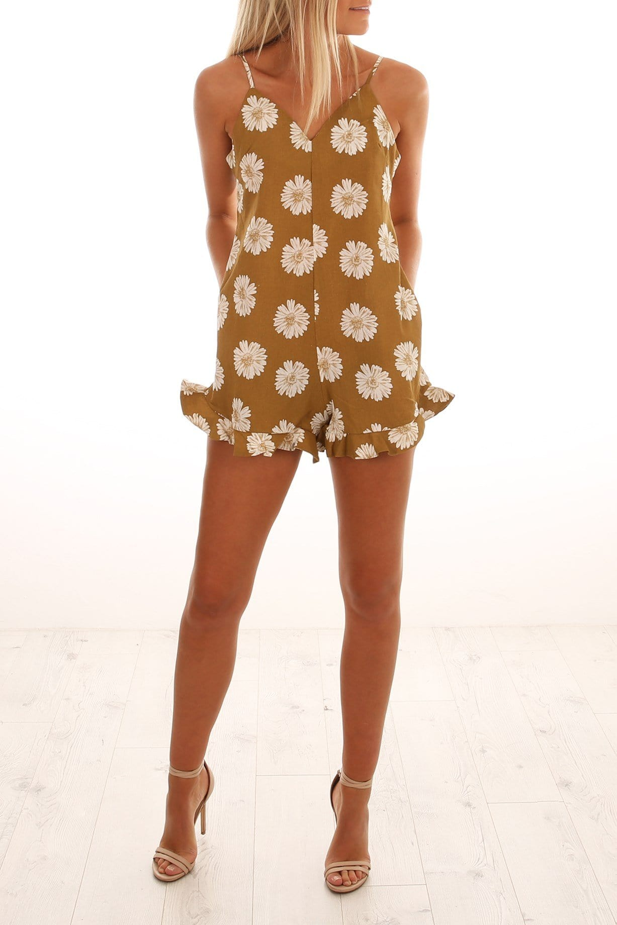 Breaking Darkness Playsuit Mustard