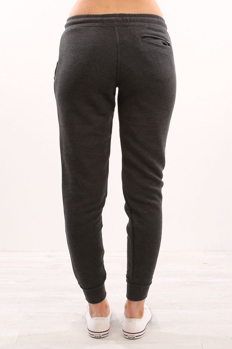 One & Only Cuffed Track Pant Dark Heather Grey Pink Hurley - Jean Jail