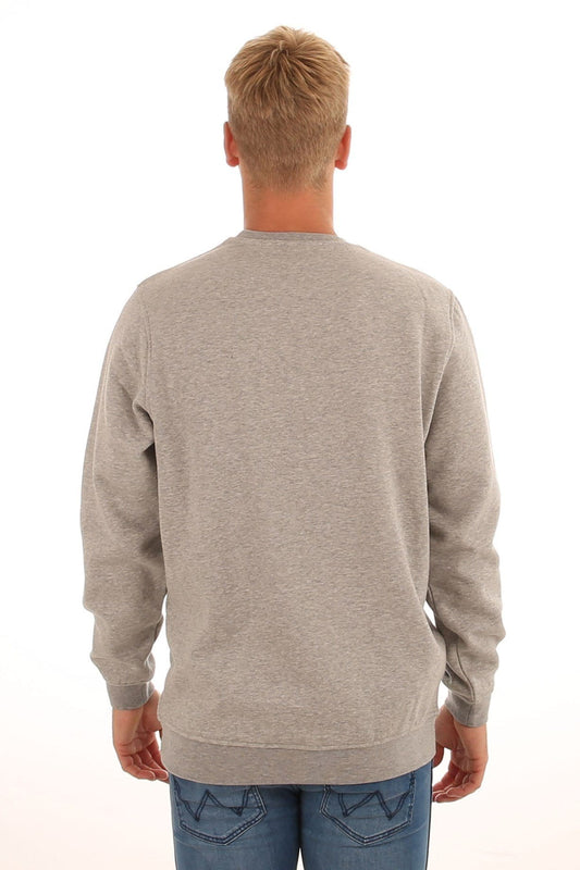 Accent Crew Sweat Grey Marle Black