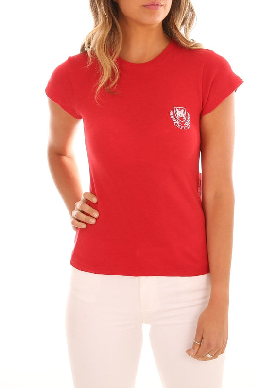 Crest Boy Tee Cherry Red