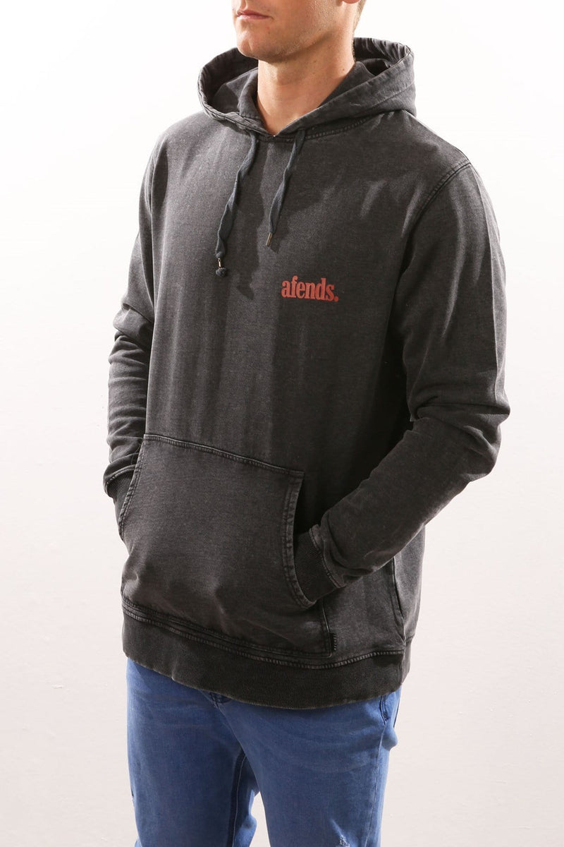 Snap Hoody Black Acid Wash Afends - Jean Jail