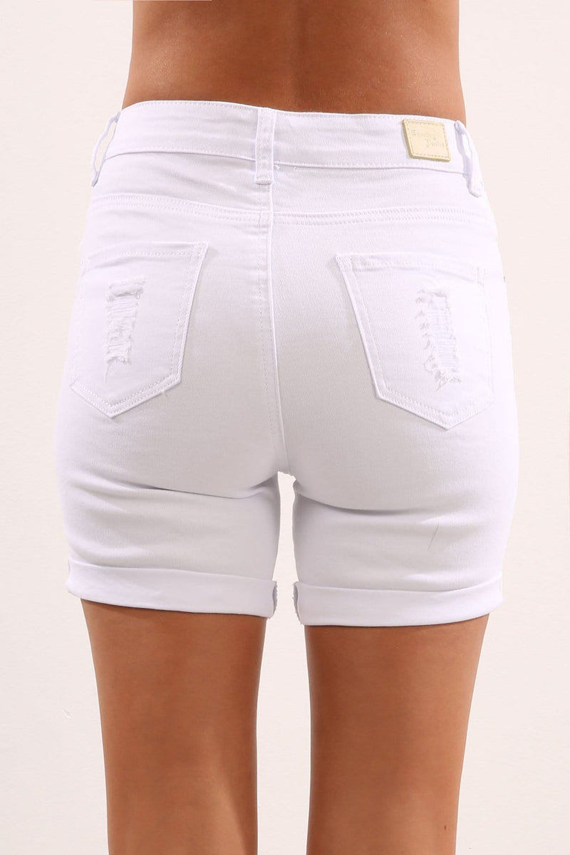 Need to Know Short White Jean Jail - Jean Jail