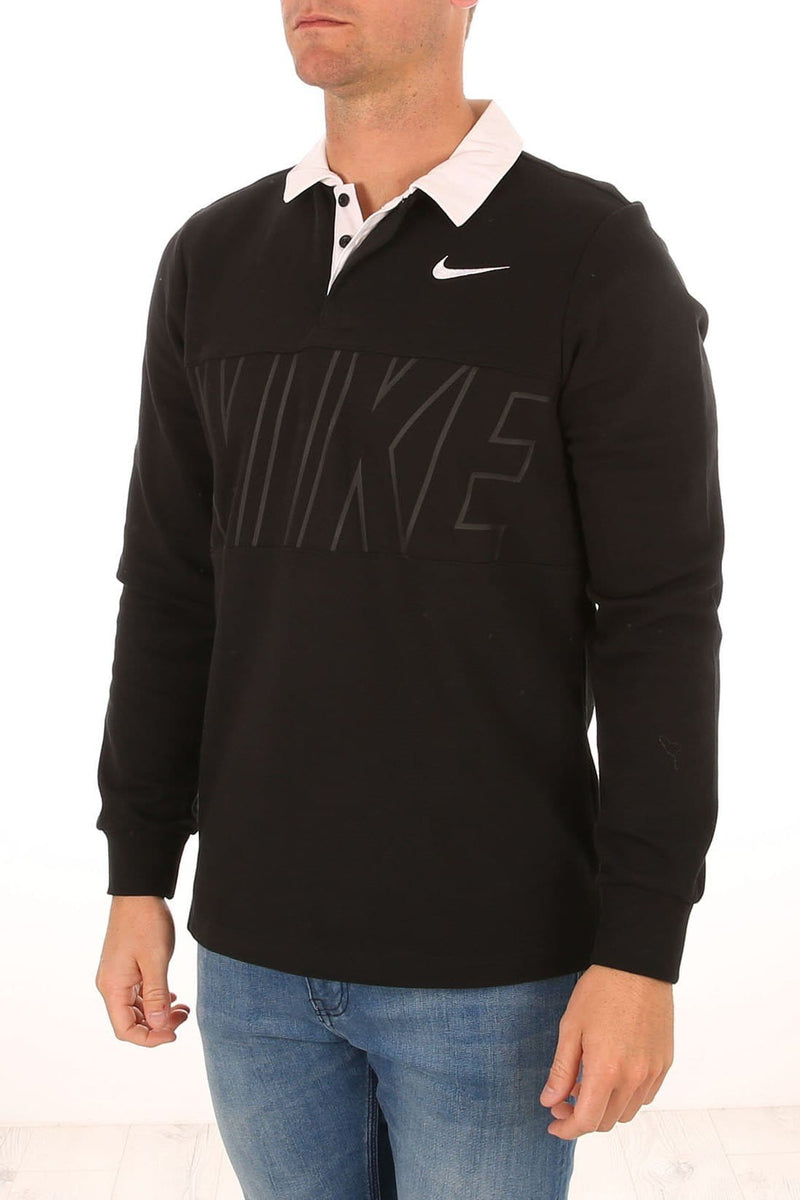 Dry Long Sleeve Rugby Polo Black White Nike SB - Jean Jail