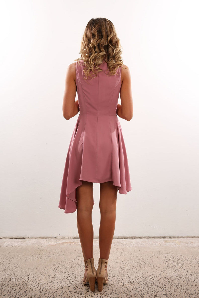 Break Even Mini Dress Rose Pink Keepsake - Jean Jail